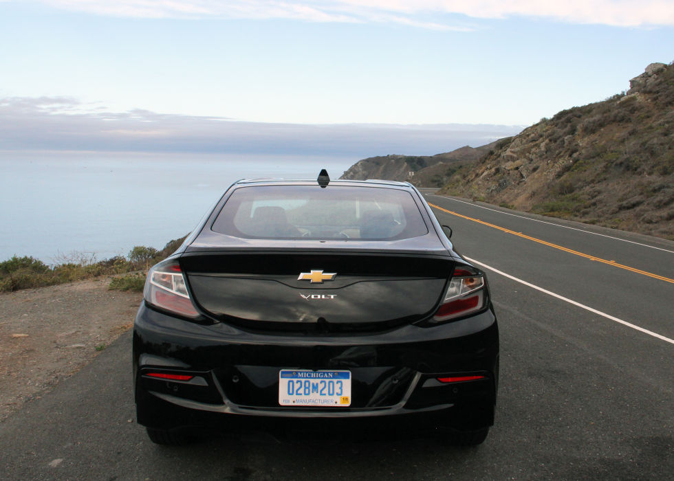 The 2016 Chevy Volt during a Bay Area test drive. (Yep, this is what it looks like in California all the time.)