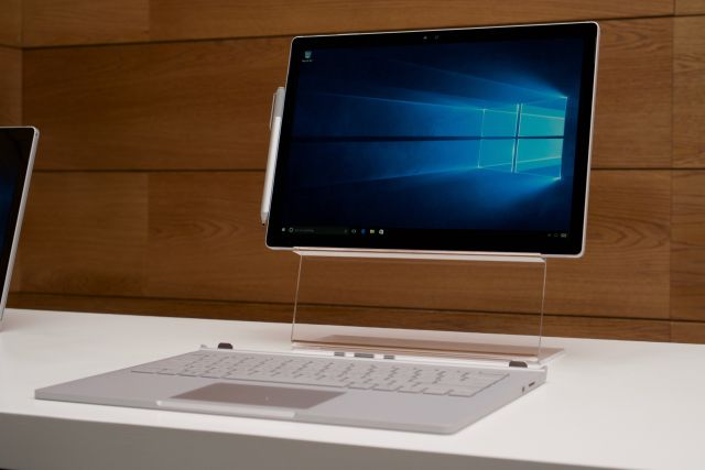 The Surface Book detached from its keyboard.