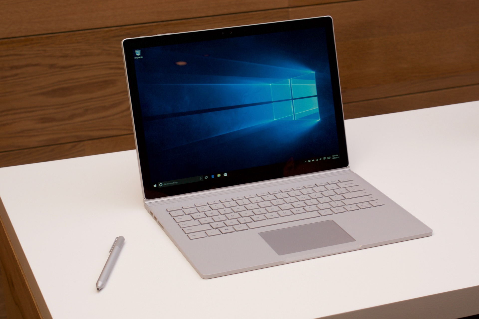 The Surface Book and pen.