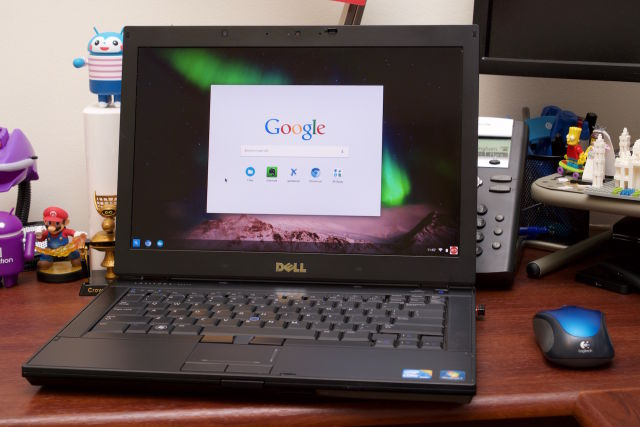 Dell's old Latitude E6410 becomes a modern Chromebook.