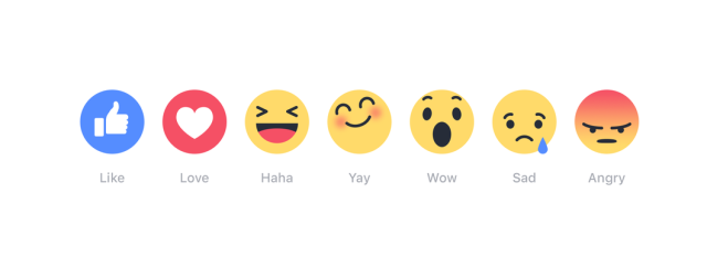 "Liking isn't enough? New Facebook ""reactions"" offer ""wow,"" ""sad,"" more"