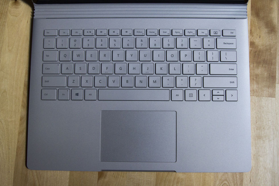 The keyboard and touchpad.