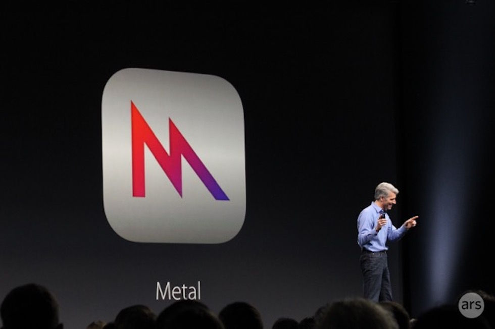 Craig Federighi announces Metal for Mac at WWDC.