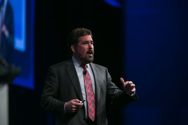Pegasystems founder Alan Trefler, speaking at PegaWORLD conference earlier this year.