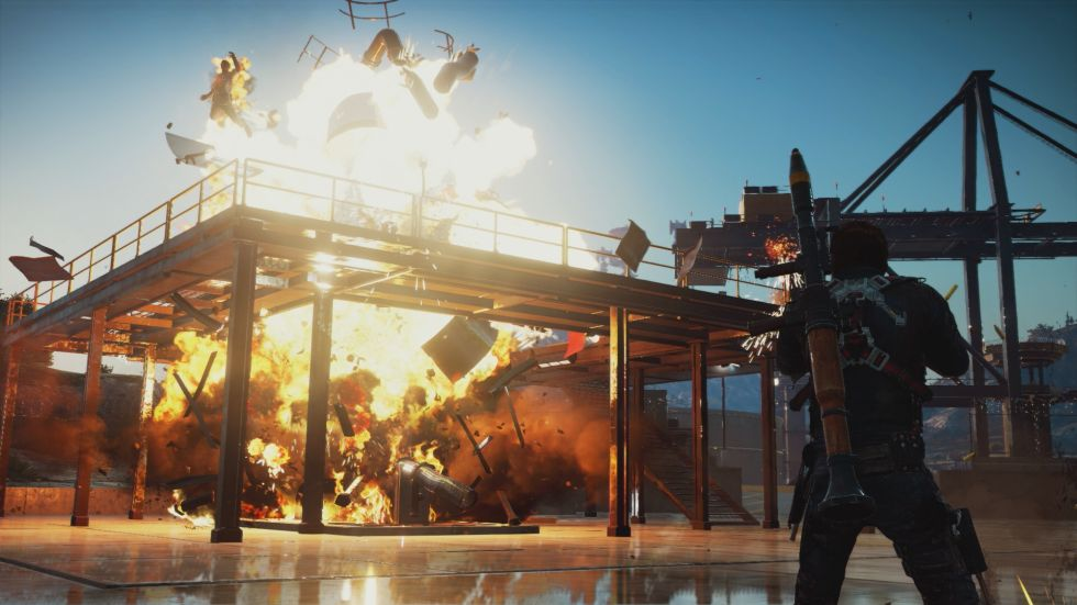 Just Cause 3: Sort of like Earthworm Jim, but with more exploding bits