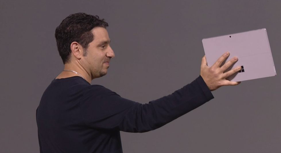 Microsoft's Panos Panay unveils the new Surface.