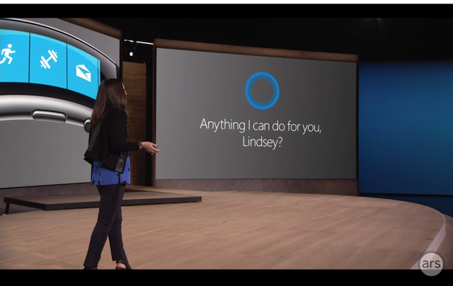 Cortana integration lets Windows Phone users speak to the new Band.