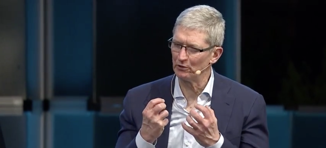 Apple's Tim Cook rails against encryption backdoors in 2015.