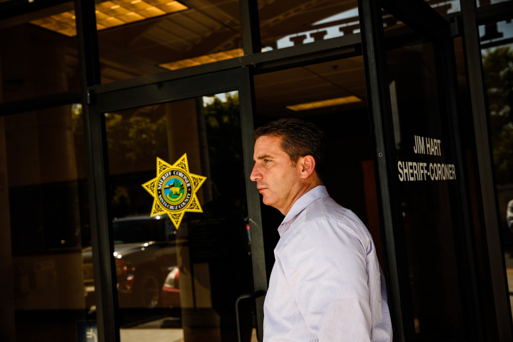 Lieutenant Kelly Kent of the Santa Cruz County Sheriff Coroner's Office at their headquarters in Capitola, California, on Thursday, September 10, 2015.