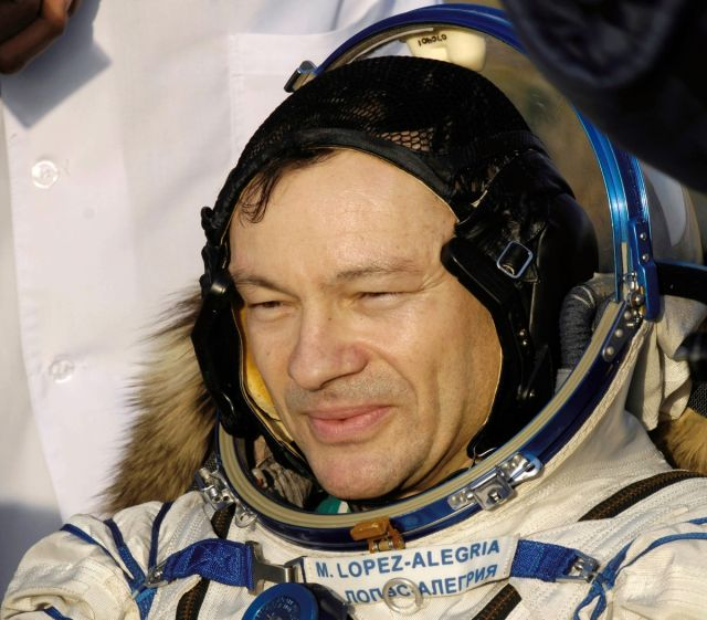 Lopez-Alegria, after being plucked from the Soyuz spacecraft by Russian special forces.