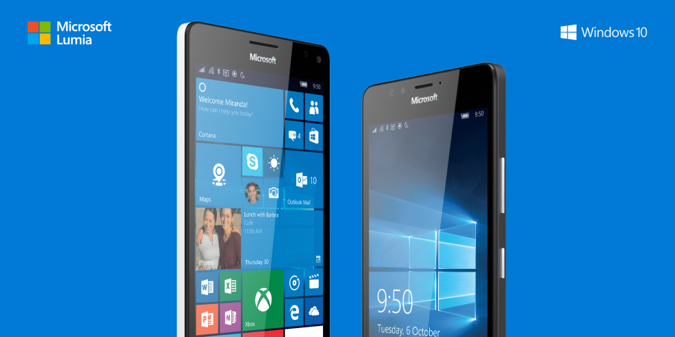 Flagship Windows Phones at last: The Lumia 950, 950XL, and 550