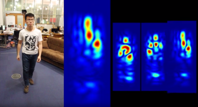 RF-Capture uses wireless signals to take snapshots of human bodies, even if they're in a different room.