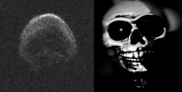 "Skull-like asteroid makes ""frightening"" flyby on Halloween 