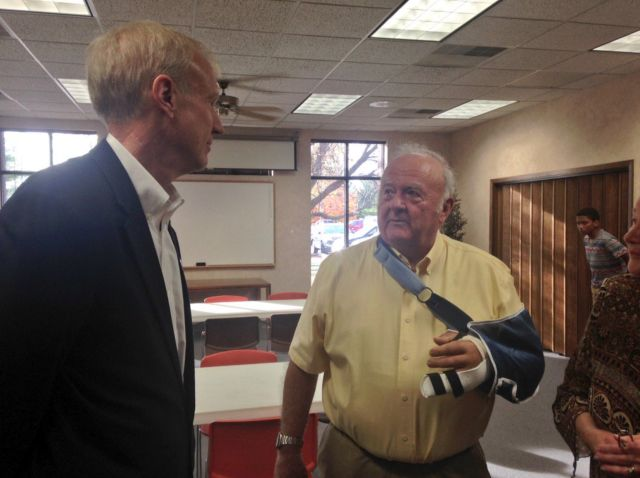 Illinois Governor Bruce Rauner meets James Vernon.