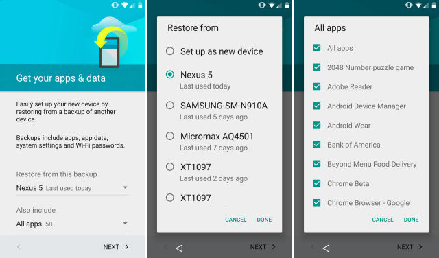 Android 6 0 has a great auto backup system that no one is