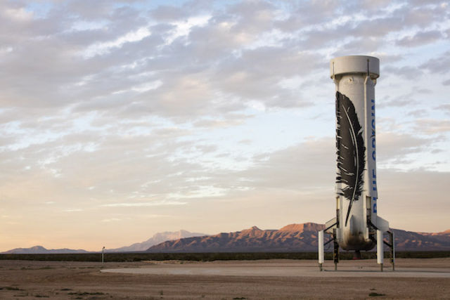 Blue Origin's New Shepard space vehicle successfully flew to space before executing a historic landing back at the launch site in West Texas.