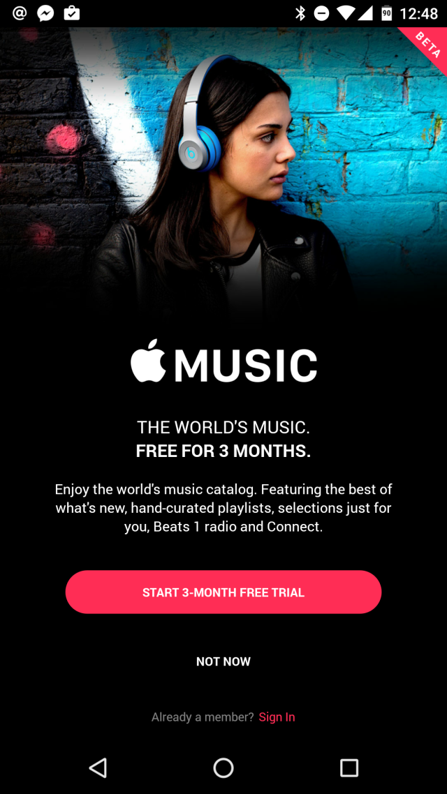 Apple Music, now on Android.