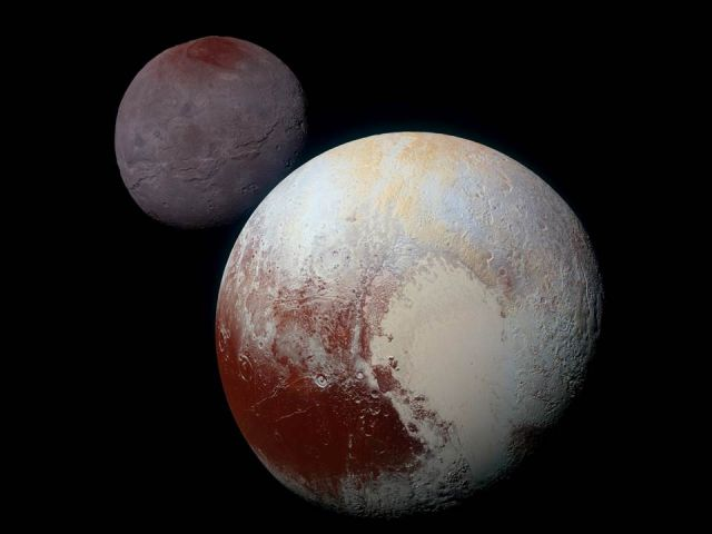 Pluto and its moon, Charon, are vastly different despite forming at the same time and place.
