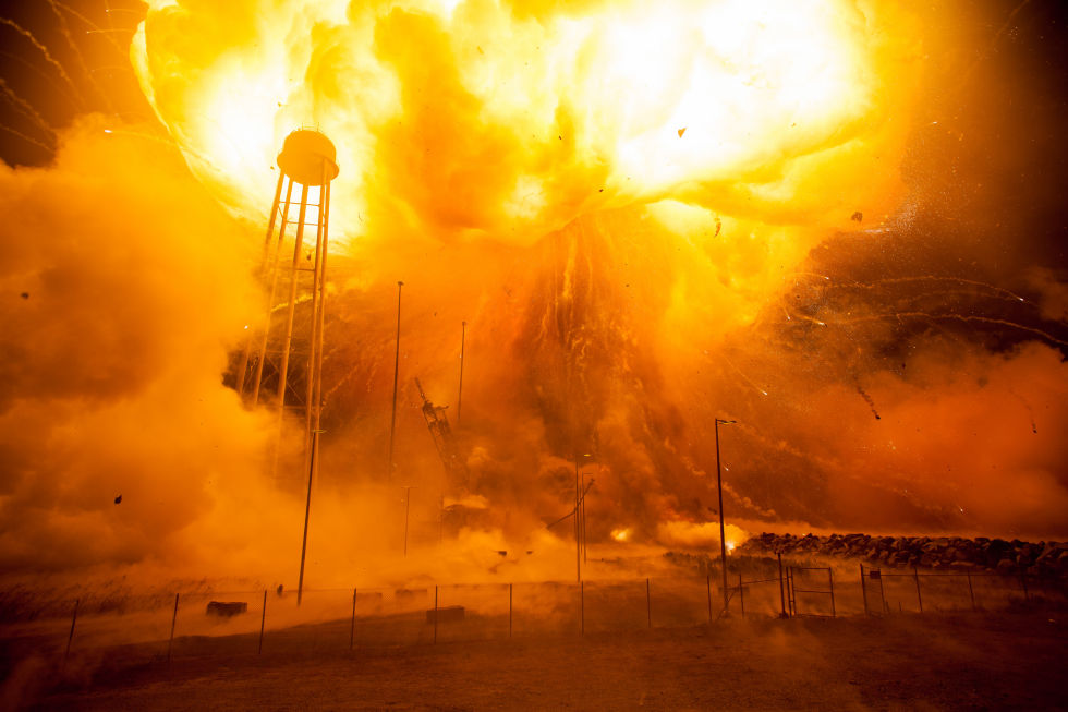The Antares rocket blew up just 15 seconds after launching.