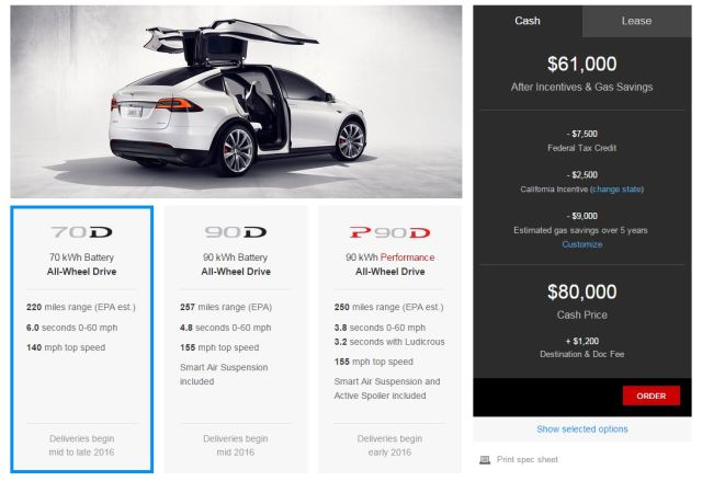 Tesla Model X production starts in earnest, pricing revealed
