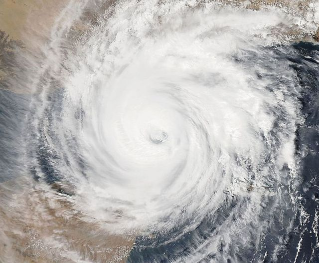 Cyclone Chapala captured early Monday morning by NOAA's Aqua satellite.