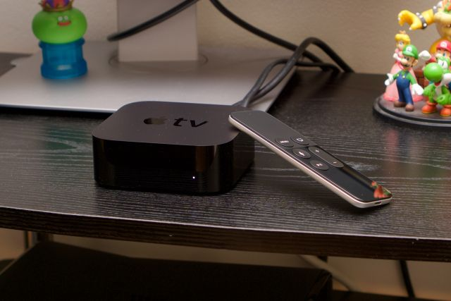 The new Apple TV and Siri Remote.