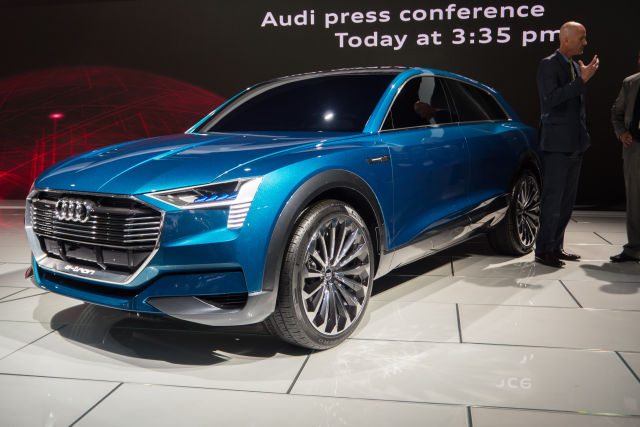 The Audi e-tron quattro concept paves the way for a forthcoming battery electric vehicle from the German marque.