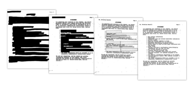 It took 11 years to finally unveil what the FBI demands in a National Security Letter. How it evolved over the years is shown above.