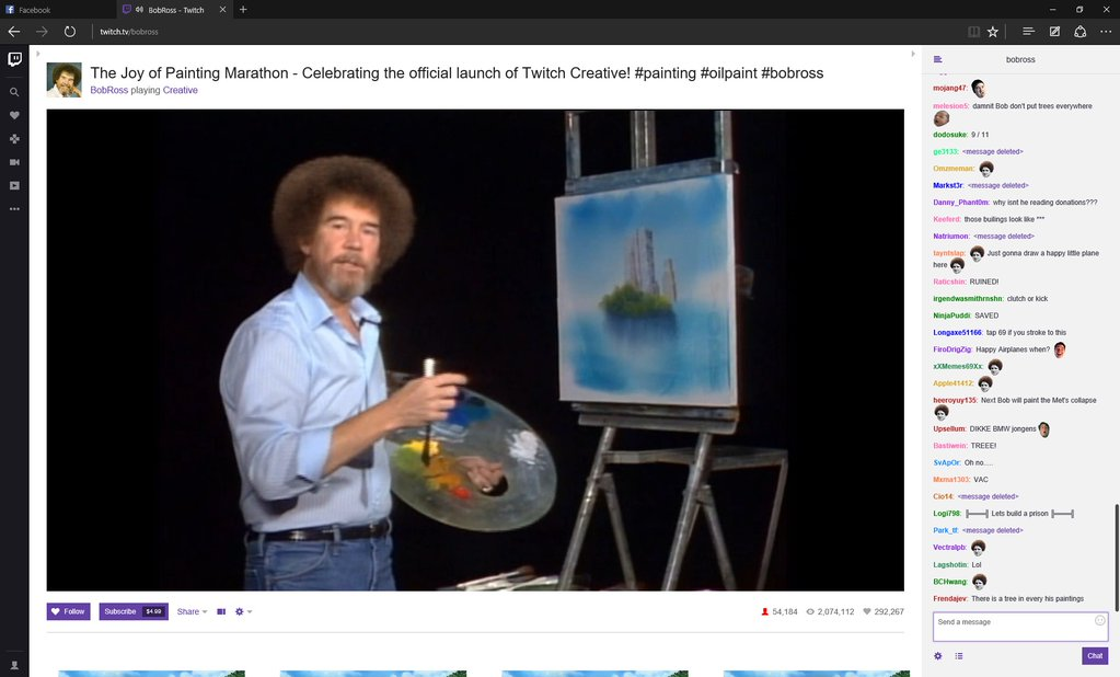 Bob Ross in action.