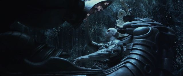 "An Engineer, the race of giant humanoids that created the titular aliens. Director Ridley Scott has hinted multiple times over the past three years that his idea for Prometheus 2 (under all its various names) would involve a visit to the Engineer homeworld, which he has called a ""paradise"" (hence the previous working title for the movie, <em>Alien: Paradise Lost</em>)."