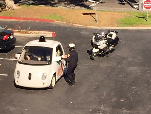 Cops pull over Google car for doing 24mph in a 35mph zone