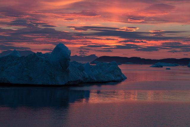 Icebergs off Western Greenland.