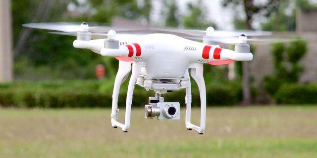 DJI's Phantom 2 Vision+ quadcopter drone.