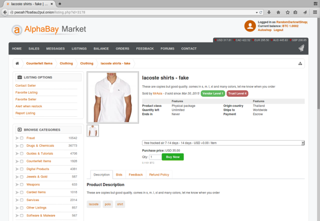 """Random Darknet Shopper"" is back, and it just bought a $35 knockoff polo"