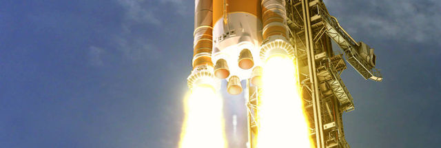 """NASA chief says he's """"very confident"""" in a 2021 launch date for SLS, but… thumbnail"""