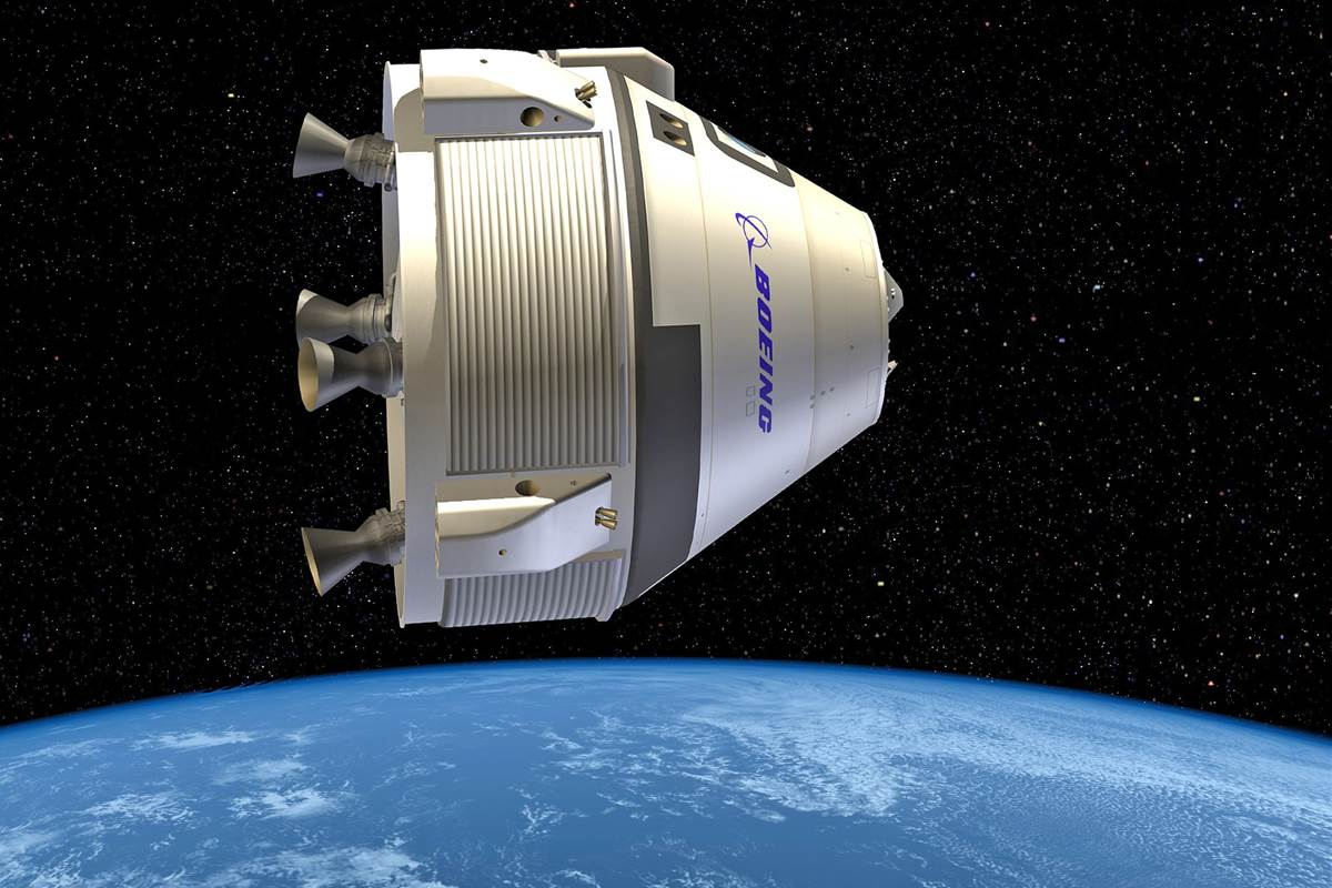 An artist's concept of Boeing's Starliner spacecraft.