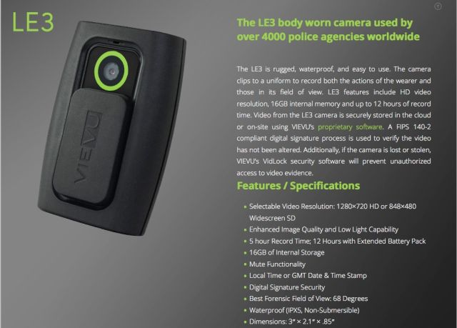 VieVu's body camera.