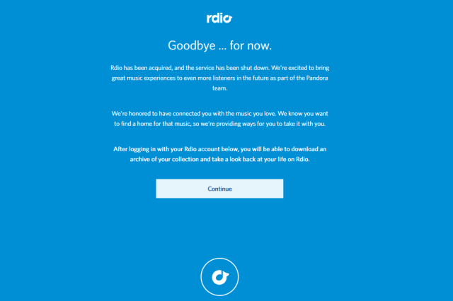 Rdio is Info-highway roadkill.