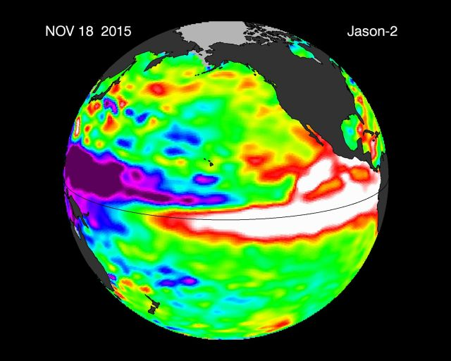 El Niño reached a record weekly high in mid-November and hasn't let up since.