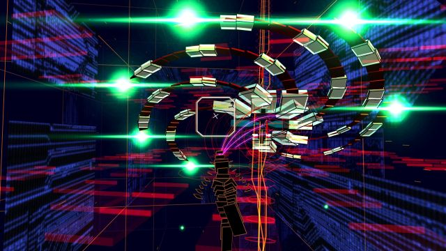 Screenshots do not do the experience of <em>Rez Infinite</em> any justice. You really have to play it to get what makes it special.