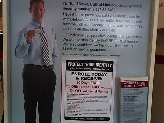A LifeLock ad from 2008.