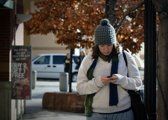 People are in denial about using devices while walking and being bad at it