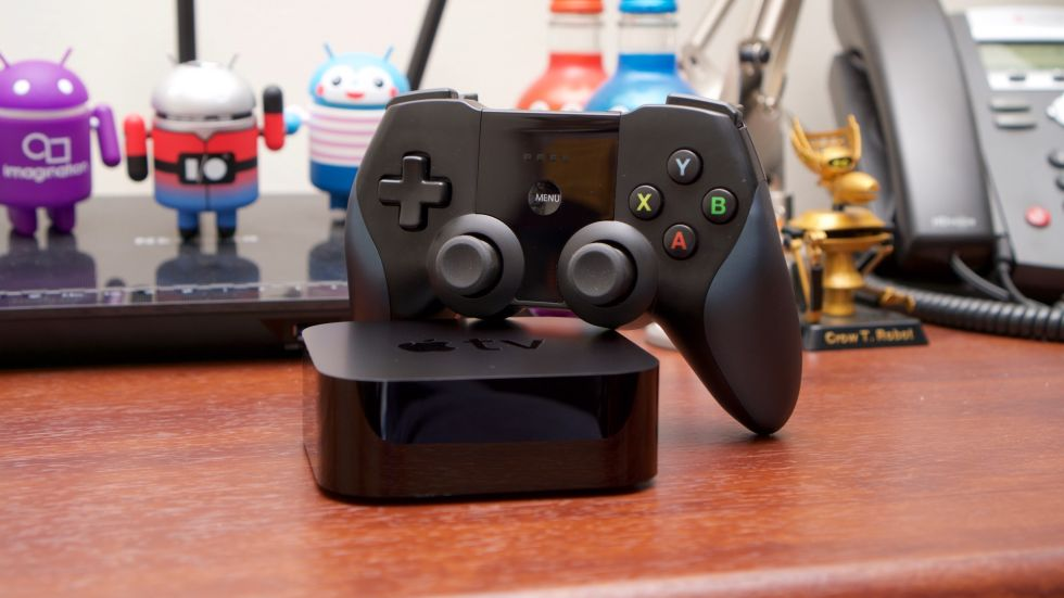 The Apple TV and the Horipad Ultimate MFI controller.