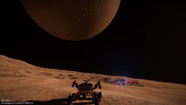 """Big moon Horizons on Cobra and SRV,"" by CMDR [AEDC] Haridas Gopal."