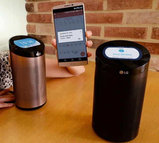 Lg S Echo Like Device Controls Smart Home Devices And Plays Music