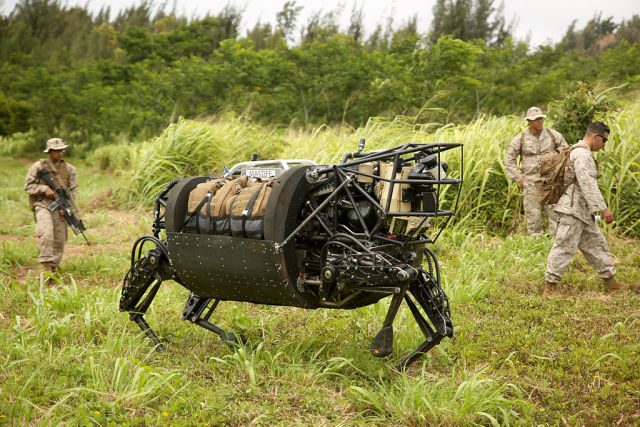 Marines' LS3 robotic mule is too loud for real-world combat