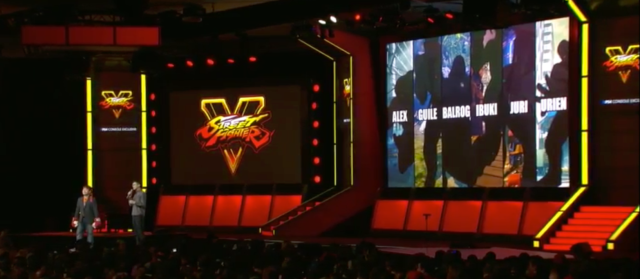<em>Street Fighter V</em>'s upcoming DLC character list.