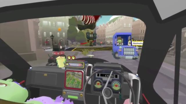 A new PlayStation VR game from Sony, <em>Modern Zombie Taxi Co.</em>