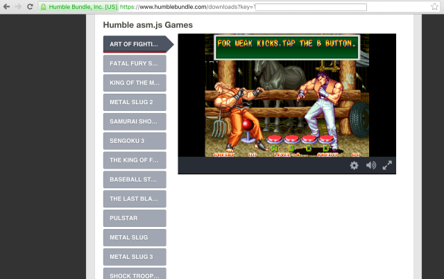 <em>Art of Fighting 2</em>—and 18 other SNK Neo-Geo classics—can now be played legally and easily in a Chrome or Firefox web browser thanks to this week's killer Humble Bundle sale.