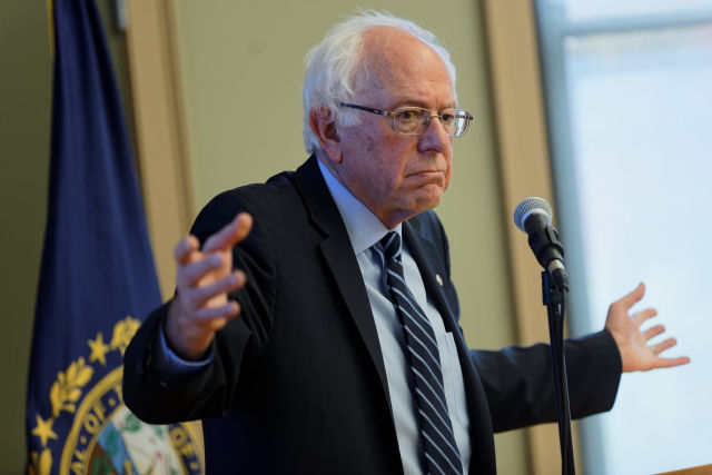 Democratic presidential candidate Bernie Sanders.